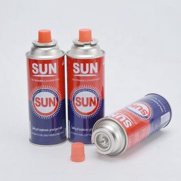 international standard sun flame butane gas cartridge and Cassette Butane Gas Cylinder made in china