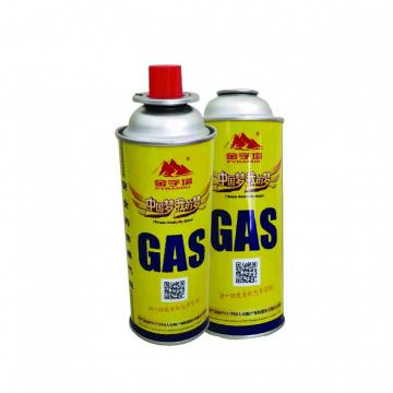 Fuel energy empty tinplate safety butane gas canister for portable stove use with high quality cheap price