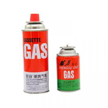China empty round shape portable butane gas cartridge and empty butane gas bottle
