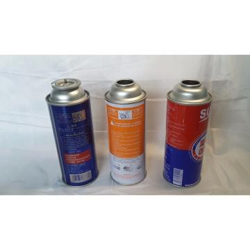 Empty Aerosol Butane Gas Can Metal Tin Can