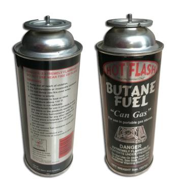 shape portable butane gas cartridge empty 220g and metal tin cans