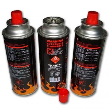Camping Round Shape Portable Gas Stove Use Butane Gas Canister Aerosol Tin Can