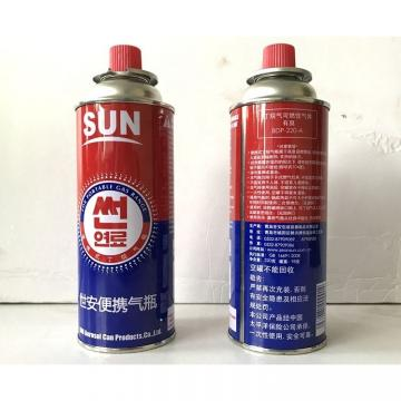 China portable stove butane gas 220g and gas butane canister
