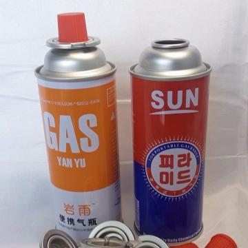 Gas butane cartridge empty fuel canister  with CRV